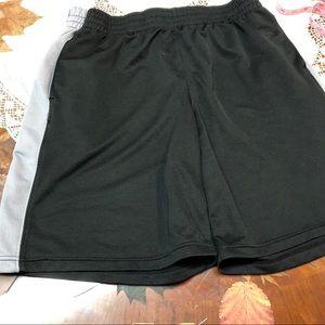 Men's Champion black gray basketball active shorts